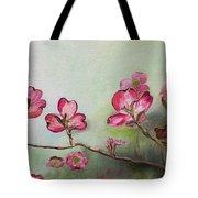Red Dogwood - Cherokee - Springtime Tote Bag