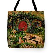 Red door hobbit house with corgi digital art by kathy kelly - Barnes and noble pembroke gardens ...