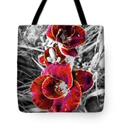 Red Double Lily Tote Bag