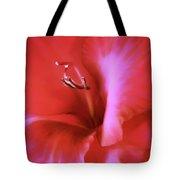 Red Dragon Gladiola Flower Tote Bag