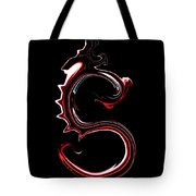 Red Dragon Serpent Named S Tote Bag
