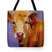 Red Earring Cow Tote Bag