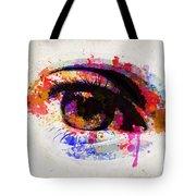 Red Eye Watercolor Tote Bag