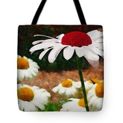 Red Eyed Daisy Tote Bag