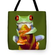Red Eyed Delight Tote Bag