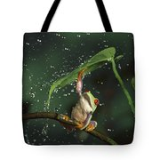 Red-eyed Tree Frog In The Rain Tote Bag