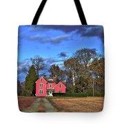 Red Farm House Tote Bag