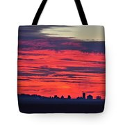 Red Farm Sunrise Tote Bag