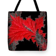 Red Feather - Abstract Tote Bag