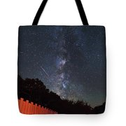 Red Fence Milky Way Tote Bag