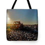 Red Fire Truck And The Sun Tote Bag