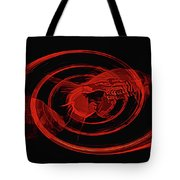 Red Fish Abstract Tote Bag