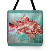 Red Fish Tote Bag