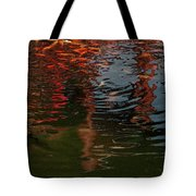 Red Fishes In A Pond Pictorial II Tote Bag