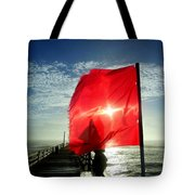 Red Flag Warning Sunrise 3 9/30 Tote Bag