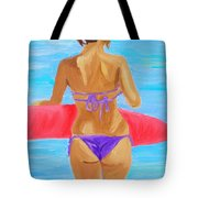 Red Float Tote Bag