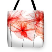 Red Floral - Red Modern Art Tote Bag