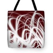 Red Flow2 Tote Bag