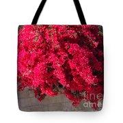 Red Flower Bushes Tote Bag