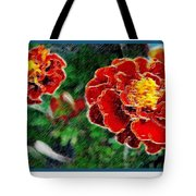 Red Flower In Autumn Tote Bag