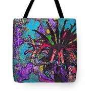 Red Flower In The Garden Tote Bag