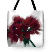 Red Flower Motion Tote Bag