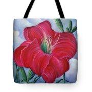Red Flower Dreams Tote Bag