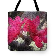 Red Flowered Peach Tote Bag