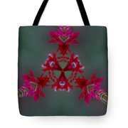 Red Flowers Abstract Tote Bag