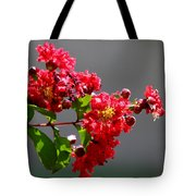 Red Flowers After The Rain Tote Bag
