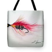 Red Fly Tie Tote Bag
