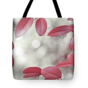 Red Foliage. Silver Light Tote Bag