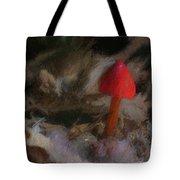 Red Forest Mushroom Tote Bag