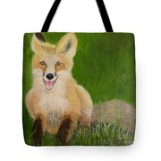 Red Fox 2 Tote Bag