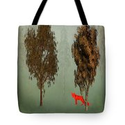 Red Fox Forest Tote Bag