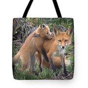 Red Fox Mama's Love Bite Tote Bag
