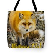 Red Fox Nature Girl Tote Bag