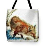 Red Fox Painted Series Tote Bag