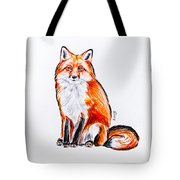 Red Foxie Tote Bag