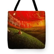 Red Fox..peaceful Tote Bag
