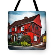 Red Frame House In Lavenham, England. Tote Bag