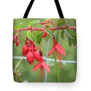 Red Fresia Tote Bag