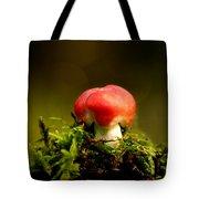 Red Fungus Tote Bag