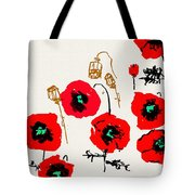 Red Garden Glow Tote Bag