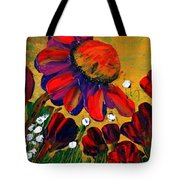Red Garden Tote Bag