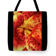 Red Gazer Lily Tote Bag