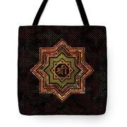 Red Gemstone And Gold  Star Of Lakshmi -  And Sri Tote Bag
