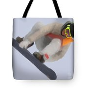 Red Gerard Snowboarding Gold Tote Bag