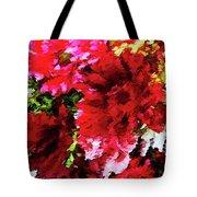 Red Gerbera Daisy Abstract Tote Bag