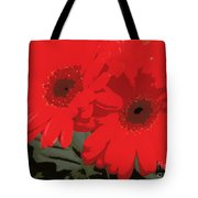 Red Gerberas Tote Bag